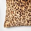 Leopard Faux Fur Oversize Square Throw Pillow Neutral - Threshold™ - image 3 of 4