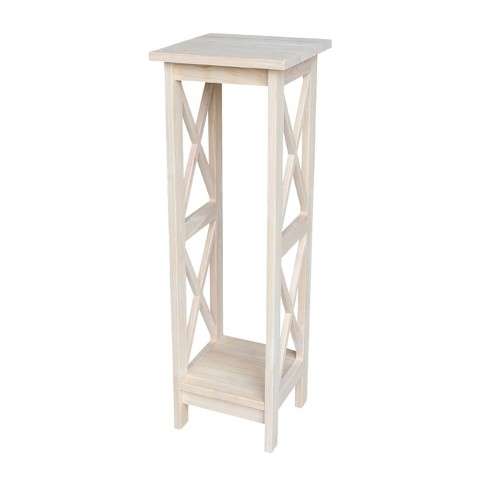 X-Sided Plant Stand Unfinished - International Concepts - image 1 of 4