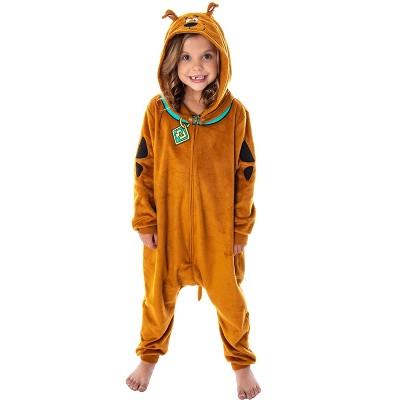 Scooby Doo Costume Kids Union Suit Sleeper Pajamas