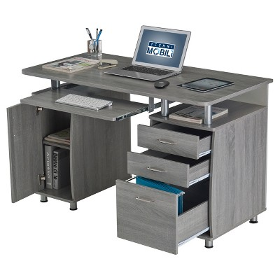 Delicieux Complete Workstation Computer Desk With Storage Gray   Techni Mobili :  Target