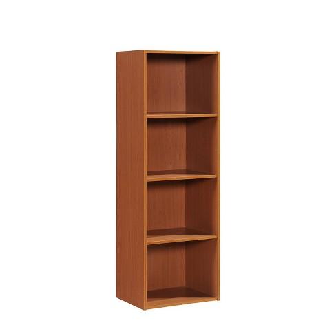 4 Shelf Bookcase in Cherry - Hodedah - image 1 of 3