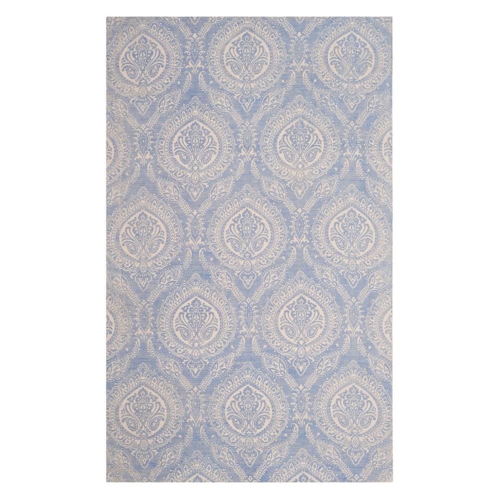 5'X8' Paisley Area Rug Blue/Ivory - Safavieh