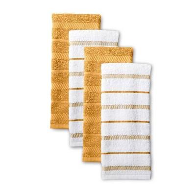 KitchenAid 4pk Cotton Albany Kitchen Towels Yellow