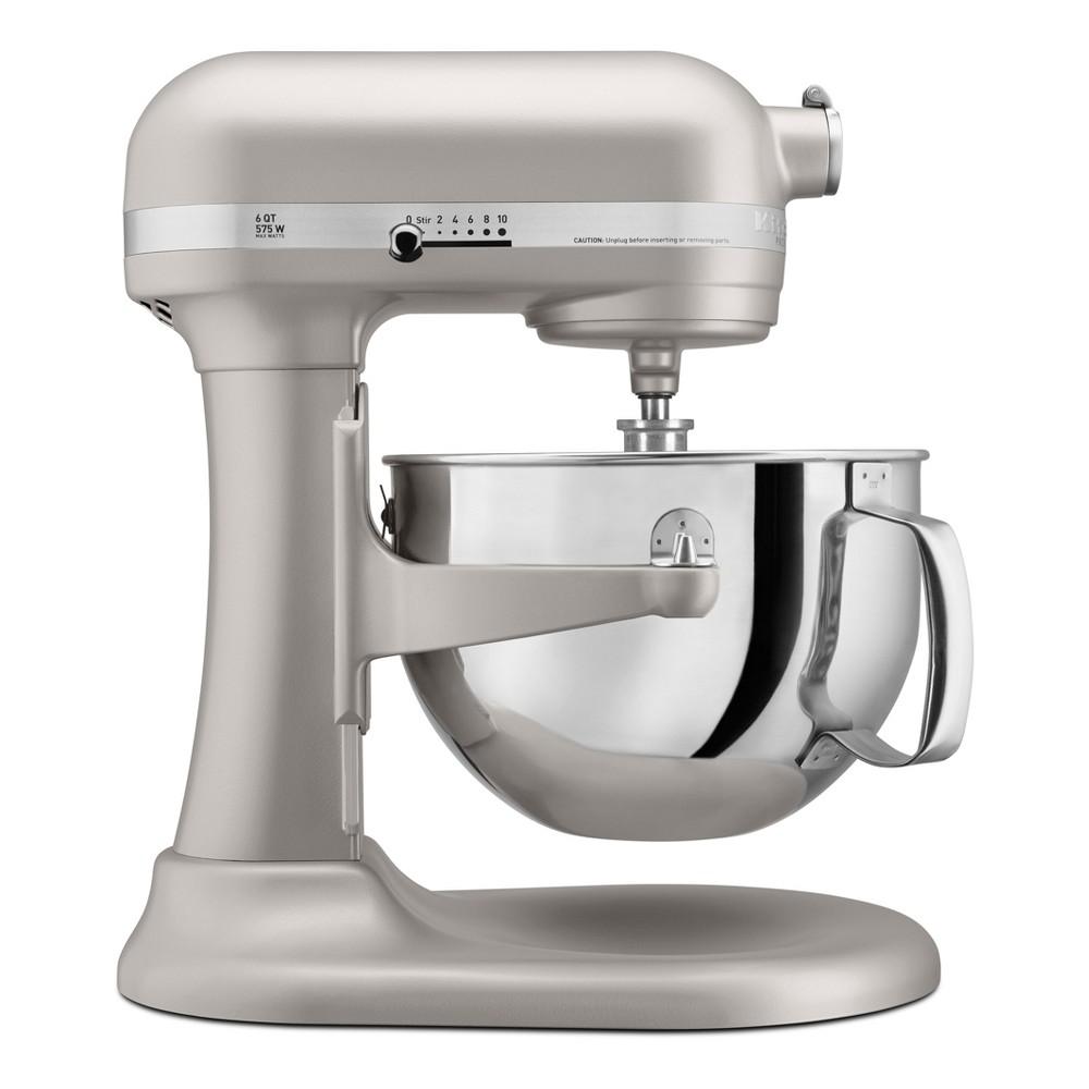 KitchenAid Refurbished Professional 600 Series 6qt Bowl-Lift Stand Mixer Light Gray - RKP26M1XNP