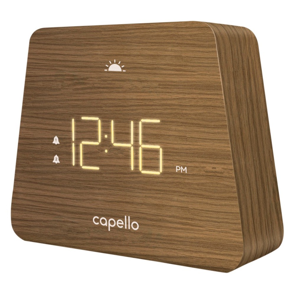Image of Digital Mantle Alarm Clock Lark Finish - Capello