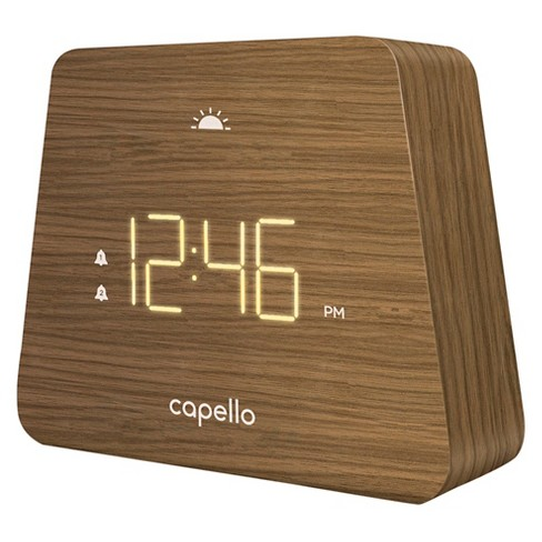 Digital Mantle Alarm Clock Lark Finish - Capello® - image 1 of 1