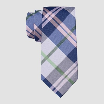 Men's Madras Plaid Lapis Tie - Goodfellow & Co™ Blue One Size