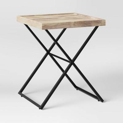 Jamesville Wood X Frame End Table Gray - Threshold™