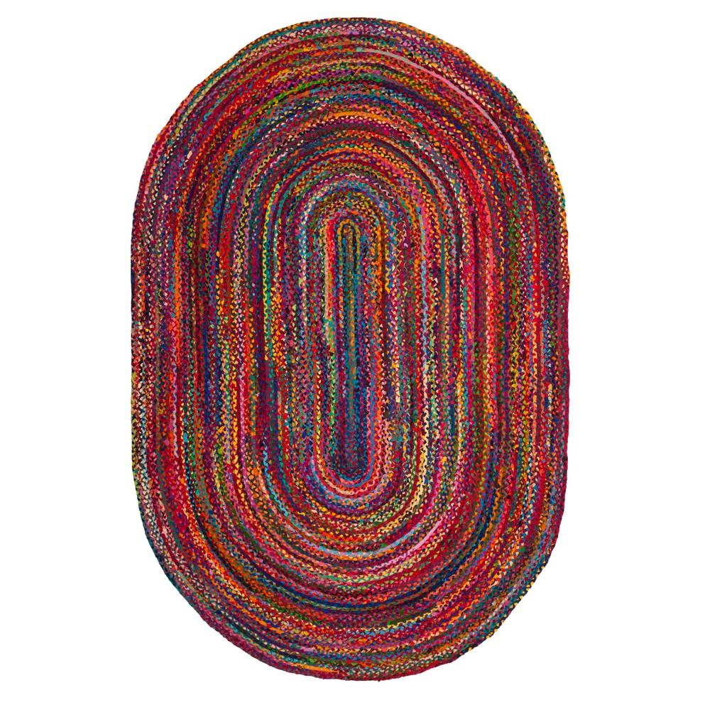 Red Swirl Woven Oval Area Rug 6'X9' - Safavieh, Rednmulti-Colored