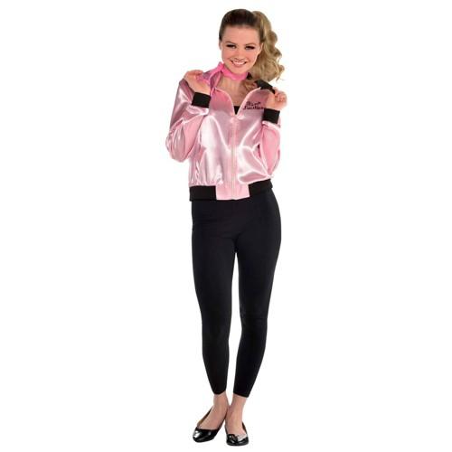 Halloween Women's Grease Pink Ladies Jacket Halloween Costume One Size, Women's