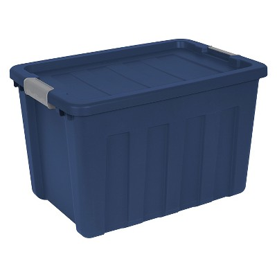 Sterilite® Ultra™ 100 Qt./25 Gal. Lidded Storage Bin - Blue