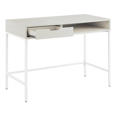 """40"""" Contempo Desk with Drawer and Shelf White Oak - OSP Home Furnishings"""