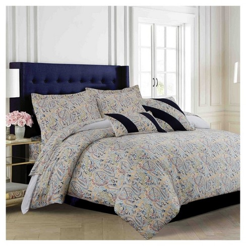 Fiji 300tc Cotton Sateen Oversized Duvet Cover Set 5pc - Tribeca Living® - image 1 of 1