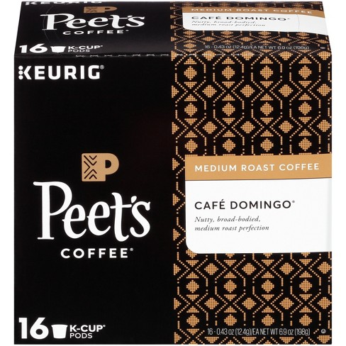 Peet's Coffee Caf Domingo Medium Roast Coffee - Keurig K-Cup Pods - 16ct - image 1 of 3