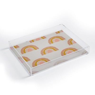 Hello Twiggs Pastel Rainbow Acrylic Tray - Deny Designs