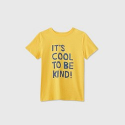 Boys' Short Sleeve 'It's Cool To Be Kind' Graphic T-Shirt - Cat & Jack™ Yellow