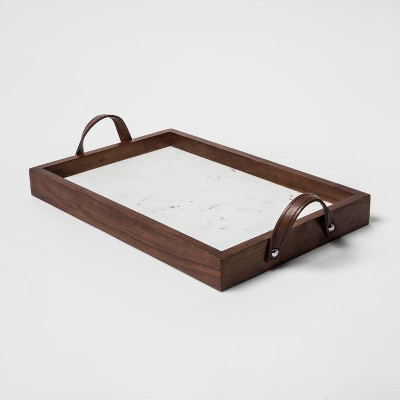 Decorative Tray - Wood & Marble - Threshold™