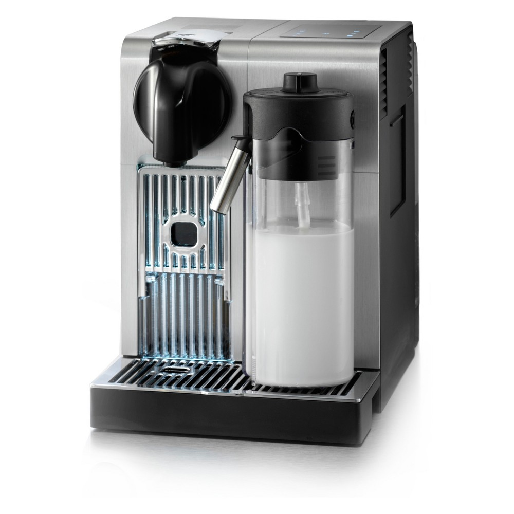 Image of De'Longhi Nespresso Lattissima Pro Espresso/Cappuccino Machine - Silver EN750MB, Light Silver