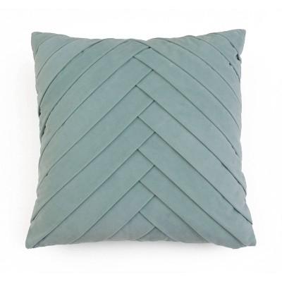 "20""x20"" Oversize James Pleated Velvet Square Throw Pillow Dark Jade - Décor Therapy"