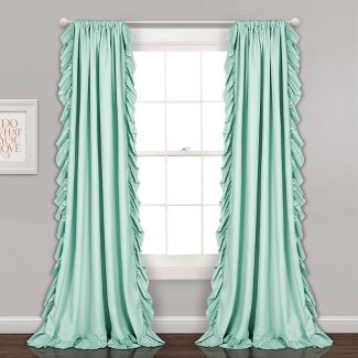 "54""x84"" Reyna Light Filtering Window Curtain Panel Mint - Lush Décor"