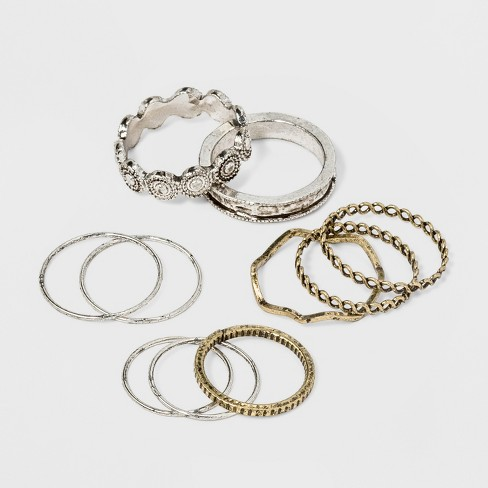 Open Work and Thin Delicate Ring Set 10pc - Universal Thread™ - image 1 of 1