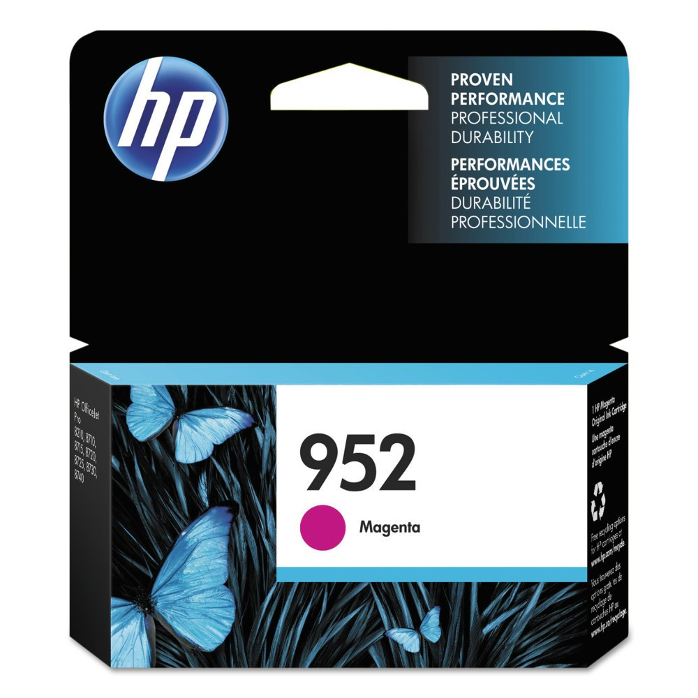 HP 952 Single Original Ink Cartridge - Magenta (Pink) (HEWL0S52AN) Give your projects and assignments a touch of brilliance with this HP 952 Original Ink Cartridge. The HP printer ink works with high-volume print jobs to deliver consistent and professional prints whether for work or home-based requirements. The printer ink cartridge is compatible with most HP printers. Color: Magenta.