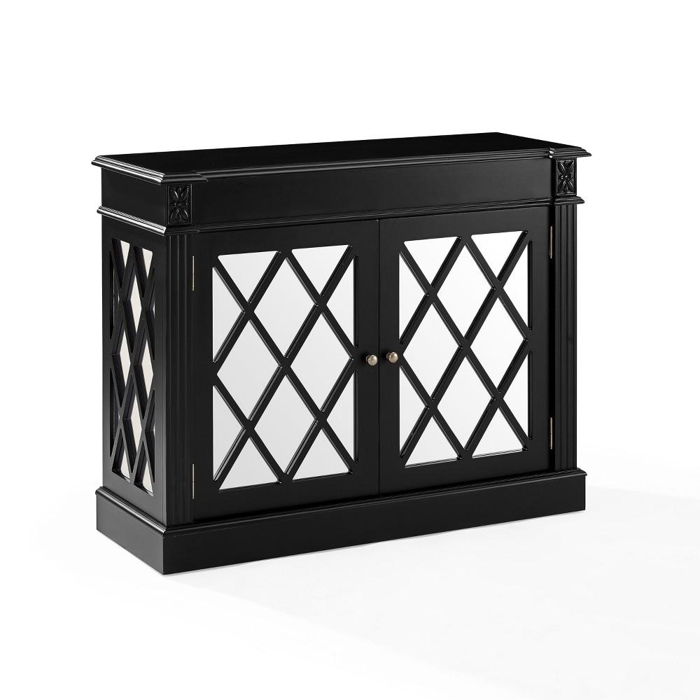 Rialto Mirrored Accent Table Black - Crosley