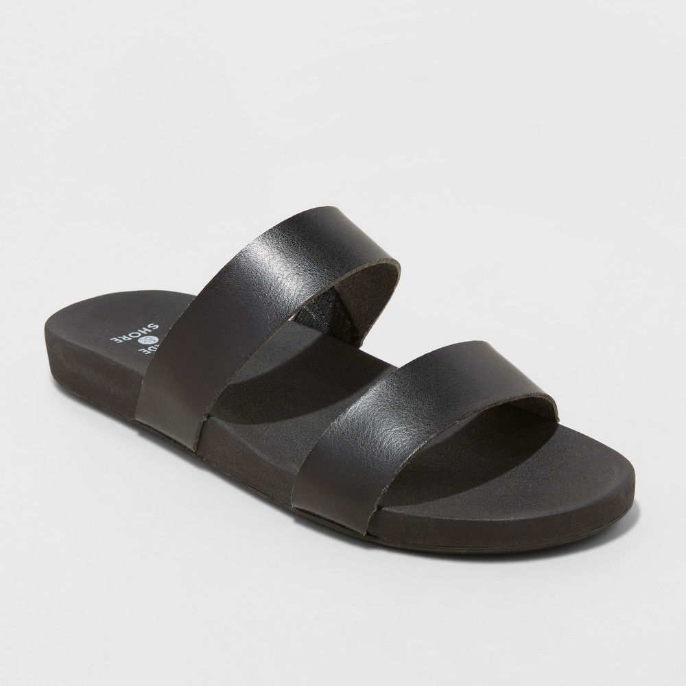 Women's Dedra Slide Sandals - Shade & Shore Black 5