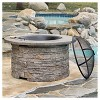 """Channing 36.25 """" Wood Burning Patio Fire Pit - Round - Natural Stone - Christopher Knight Home - image 3 of 4"""