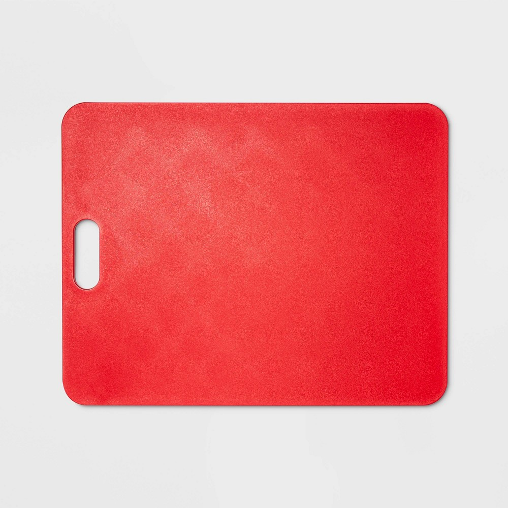 "Image of ""11""""x14"""" Gripper Poly Cutting Board Red - Made By Design"""