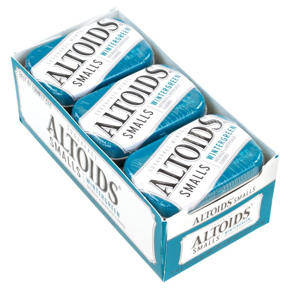 Altoids Smalls Wintergreen Mint Candies - 0.37oz/9ct