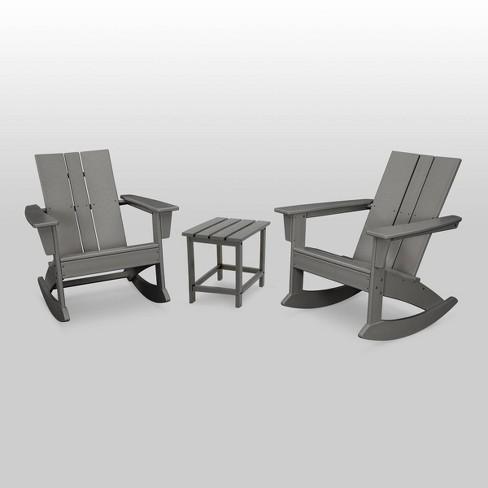 St. Croix 3pc Modern Adirondack Rocking Chair Set - POLYWOOD - image 1 of 1