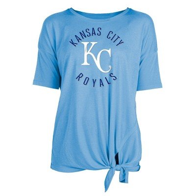 MLB Kansas City Royals Women's Poly Rayon Front Knot T-Shirt