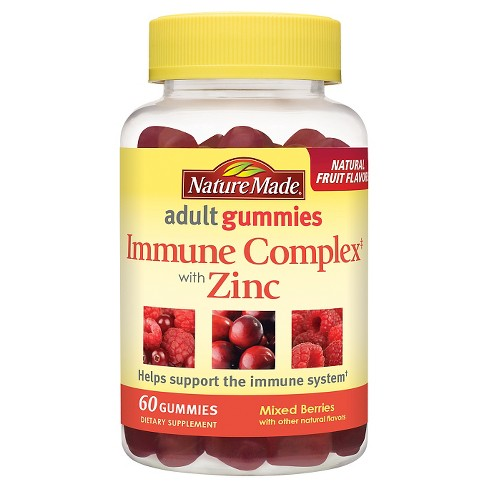 Nature Made Immune Complex Dietary Supplement Adult Gummies - Mixed Berries - 60ct - image 1 of 1