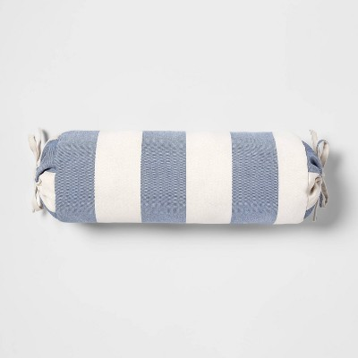 Cabana Bolster Outdoor Throw Pillow Blue - Threshold™