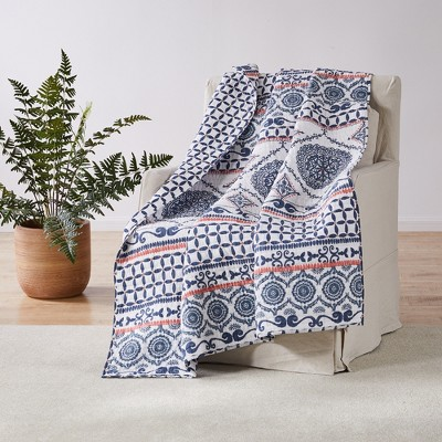 Caperoad Medallion Quilted Throw - Levtex Home