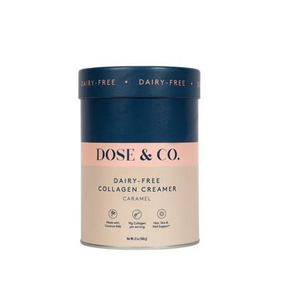 DOSE&CO Dairy-Free Collagen Creamer - Caramel - 12oz