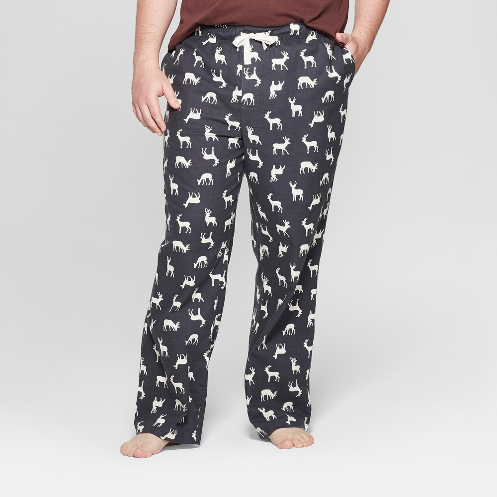 Men's Big & Tall Flannel Pajama Pants - Goodfellow & Co Zodiac Night 3XB, Gray