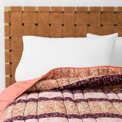 Peach Desert Rose Stripe Quilt (Full/Queen)- Opalhouse™