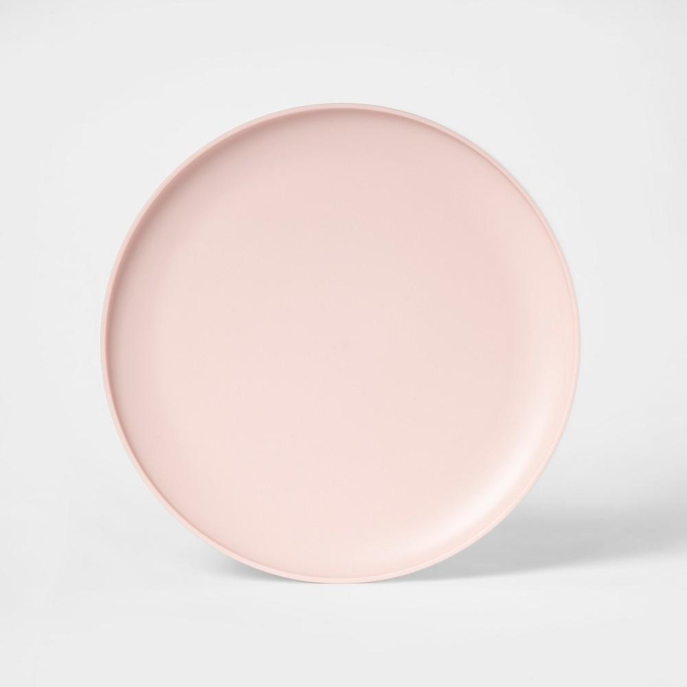 "Image of ""10.5"""" Plastic Dinner Plate Pink - Room Essentials"""