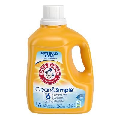 Arm & Hammer Clean & Simple Liquid Laundry Detergent - 131.25 fl oz