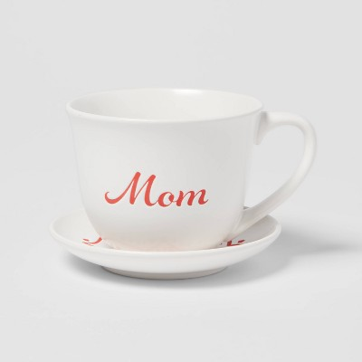 2pc Stoneware Mom Cup and Saucer Set - Opalhouse™