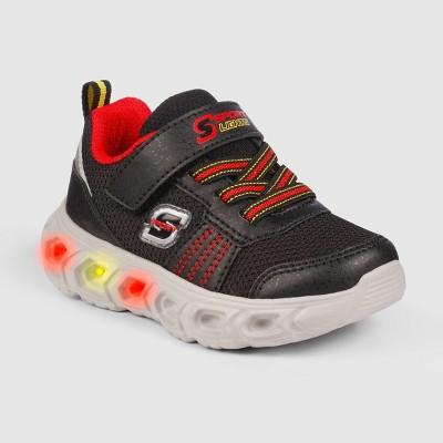 Toddler Boys' S Sport by Skechers Bram Light-Up Apparel Sneakers - Black/Red
