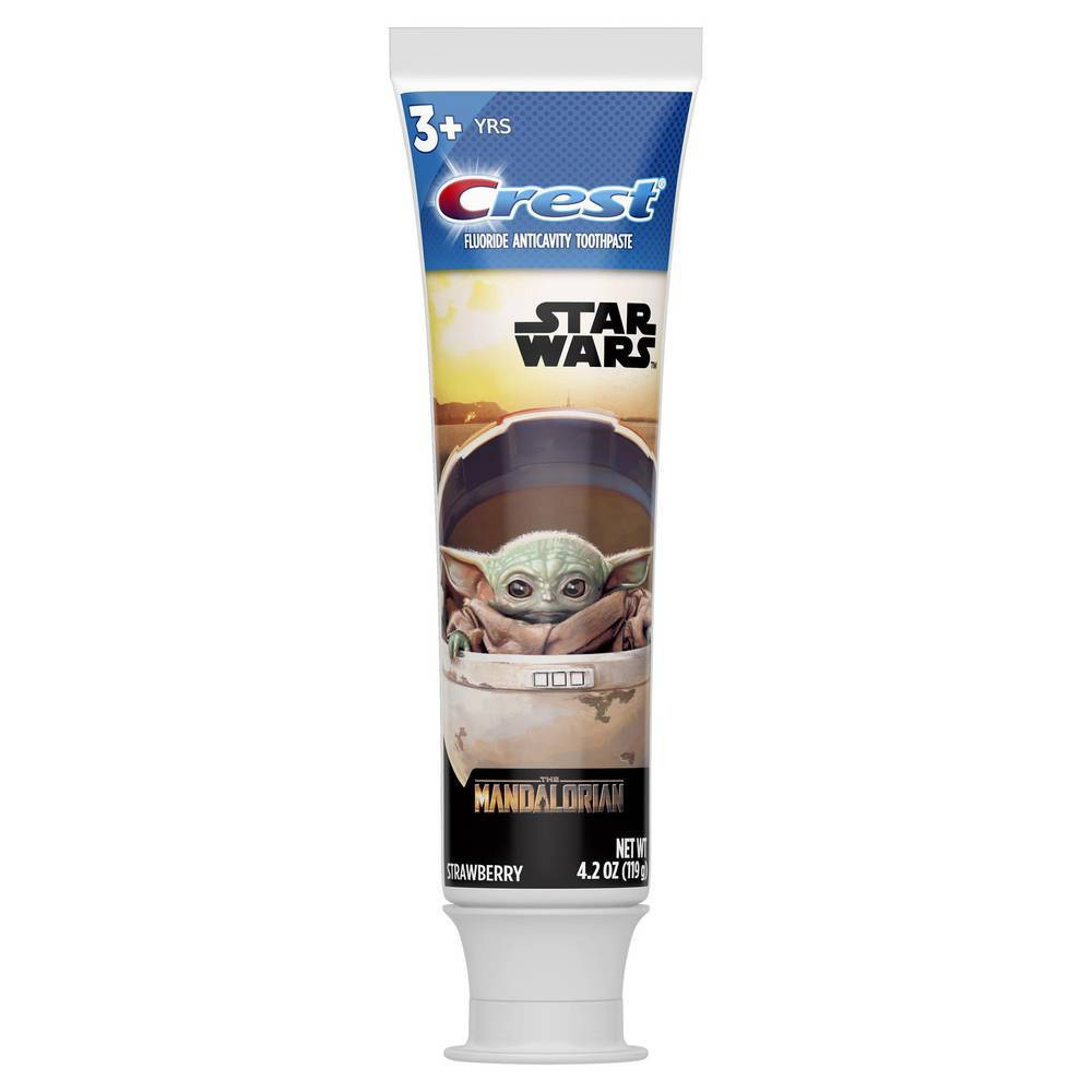 Crest Kid 39 S Toothpaste Featuring Star Wars The Mandalorian Strawberry Flavor 4 2oz
