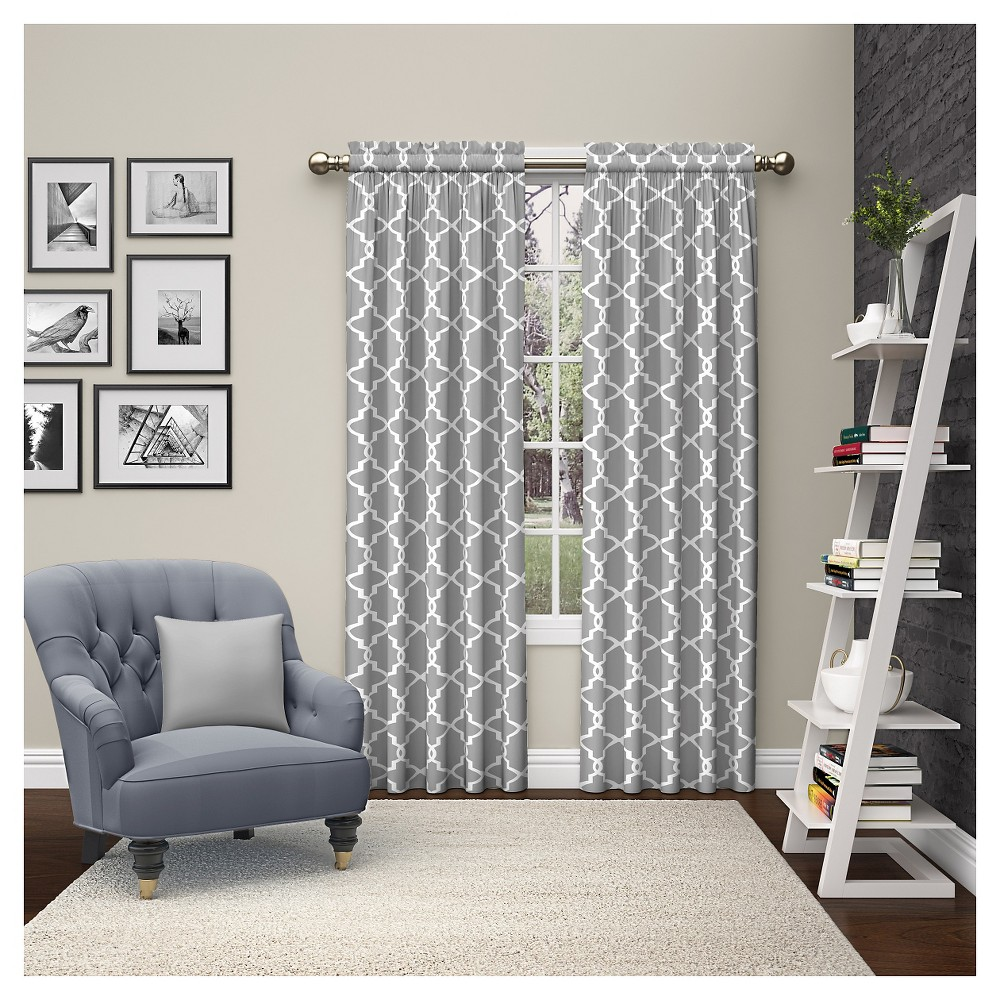"Image of ""2 Piece Vickery Curtain Panels Gray (28""""x63"""") Pairs To Go"""