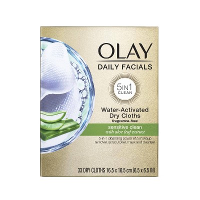 Facial Cleansing Wipes: Olay Daily Facials Gentle Sensitive Clean