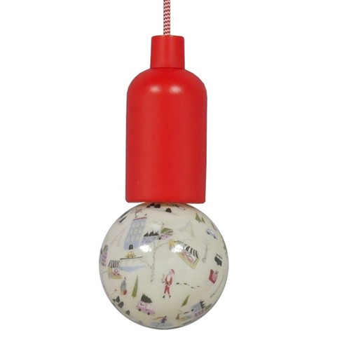 Battery Operated LED Swag Pendant Red City Scene Bulb - Room Essentials™ - image 1 of 1