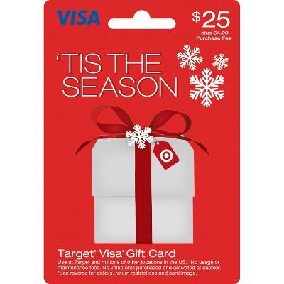Visa Holiday Gift Card - $25 + $4 fee