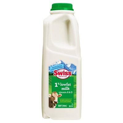 Swiss Premium 1% Lowfat Milk - 1qt