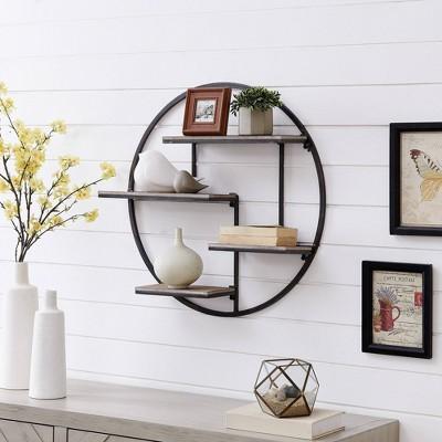 Bryson Industrial Circular Shelf - FirsTime